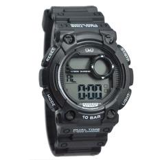 Spesifikasi Q Q M141J002Y Jam Tangan Sport Pria Digital Rubber Strap Black Terbaik