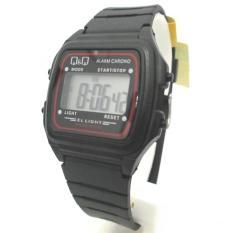 Q&Q QQ QnQ Digital Jam Tangan Pria - Hitam - Strap Karet - L116J001Y