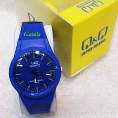 Spesifikasi Q Q Quartz Jam Tangan Fashion Wanita Murah Rubber Strap Waterresistant Vq69J016Ag Yg Baik