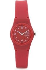 Beli Q Q Vp47J013Y Jam Tangan Wanita Merah Karet Kecil Lengkap