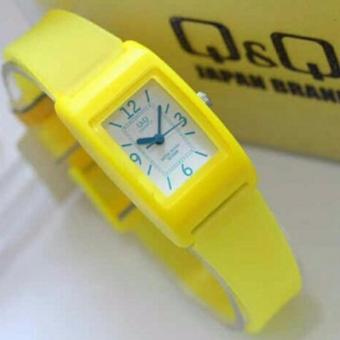Price Checker Q&Q Watch - Jam Tangan Wanita - Rubber Strap - Design Segi-Q&QQ22091