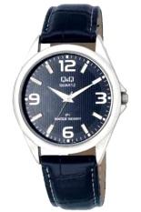 Spesifikasi Q Q Analog Original Watch Jam Tangan Pria Hitam Tali Kulit 08J305Y Murah