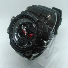 Jual Q Q Dual Time Jam Tangan Sport Pria Rubber Strap Q Q 016S Q Q Branded