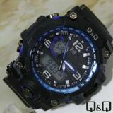 Q Q Dual Time Jam Tangan Sport Pria Rubber Strap Q Qq22096 Q Q Diskon 40