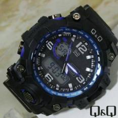 Harga Q Q Dual Time Jam Tangan Sport Pria Rubber Strap Q Qq22096