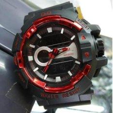 Toko Q Q Dual Time Jam Tangan Sport Pria Rubber Strap Qq 46121 Dekat Sini