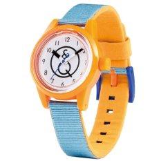 Q Q Smile Solar Mini Jam Tangan Pria Dan Wanita Orange Biru Strap Kanvas Rp01J005Y Q Q Diskon 40