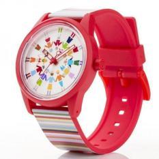 Spesifikasi Q Q Smile Solar The Spice Jam Tangan Pria Dan Wanita Merah Pink Putih Strap Karet Rp00J019Y Lengkap