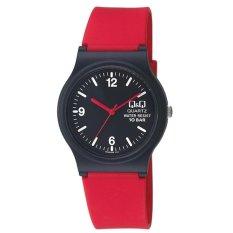 Spesifikasi Q Q Vp 46J025Y Jam Tangan Wanita Merah Hitam Karet Online