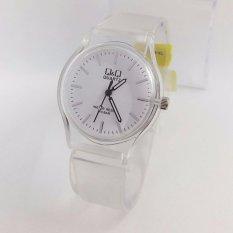 Harga Q Q Watch Jam Tangan Wanita Rubber Strap Transparan Design Vq86J027 Branded