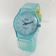 Harga Termurah Q Q Watch Jam Tangan Wanita Rubber Strap Transparan Design Vq86J030