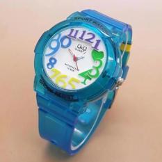 Harga Q Q Watch Q3091W Jam Tangan Anak Perempuan Waterresist Rubber Strap Yang Bagus