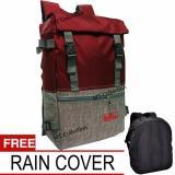 Beli Qilvano Back Pak Outdoor Korean Style 35 Liter Slot Laptop 16 Inch Free Rain Cover Dki Jakarta