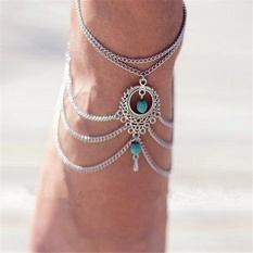 Qimiao Gprince Fashion Retro Bohemia Meatal Rantai Gelang Kaki Pantai Telanjang Kaki Sandal Wanita Perhiasan Kaki