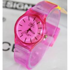 QQ watch - jam tangan wanita casual QQ Transparan - rubber strap
