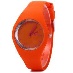 Beli Jam Quartz Untuk Wanita Tali Silikon Ultrathin Olahraga Oranye Intl Not Specified Murah