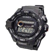 Quimex Digital Jam Tangan Sportt Pria - Strap Karet - Qu 82 Black 4ee3609609