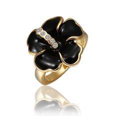 R492 Grosir Tinggi QualityNickle Gratis Antiallergic Baru Fashion Perhiasan 18 K Nyata Cincin Berlapis Emas untuk Wanita-Intl