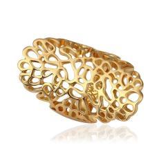 R528 Grosir Tinggi QualityNickle Gratis Antiallergic Baru Fashion Perhiasan 18 K Nyata Cincin Berlapis Emas untuk Wanita-Intl