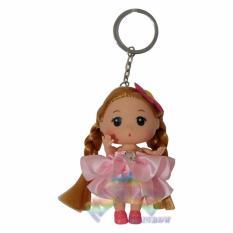 Rainbow Gantungan Kunci Boneka Barbie Miss Universe / Gantungan Kunci Tas / Gantungan Kunci Pintu / Gantungan Kunci Mobil / Gantungan Kunci Motor / Gantungan Kunci Lemari / Gantungan Kunci Unik Lucu / Hiasan / Mainan Anak - Dress Pink Polos