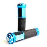 Harga Rajamotor Handgrip Set Bintik Ring Jalu Almunium Biru Yang Murah