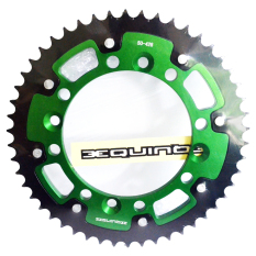 RajaMotor Equinox Gir Belakang Kawasaki KLX150 #50 Almunium - Hijau