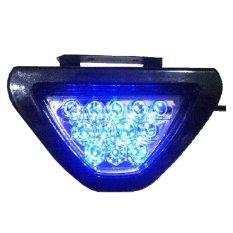 RajaMotor Lampu Stop Variasi LED Brake Lampu Model Segitiga F1 - Biru - Aksesoris Motor -