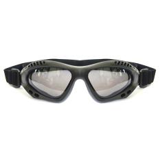 Promo Rajamotor Kacamata Goggles Retro Kaca Riben Hitam Jawa Barat