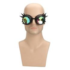 Rave Kaleidoskop Pelangi Kacamata Prisma Difraksi Kristal Lensa untuk Steampunk-Internasional
