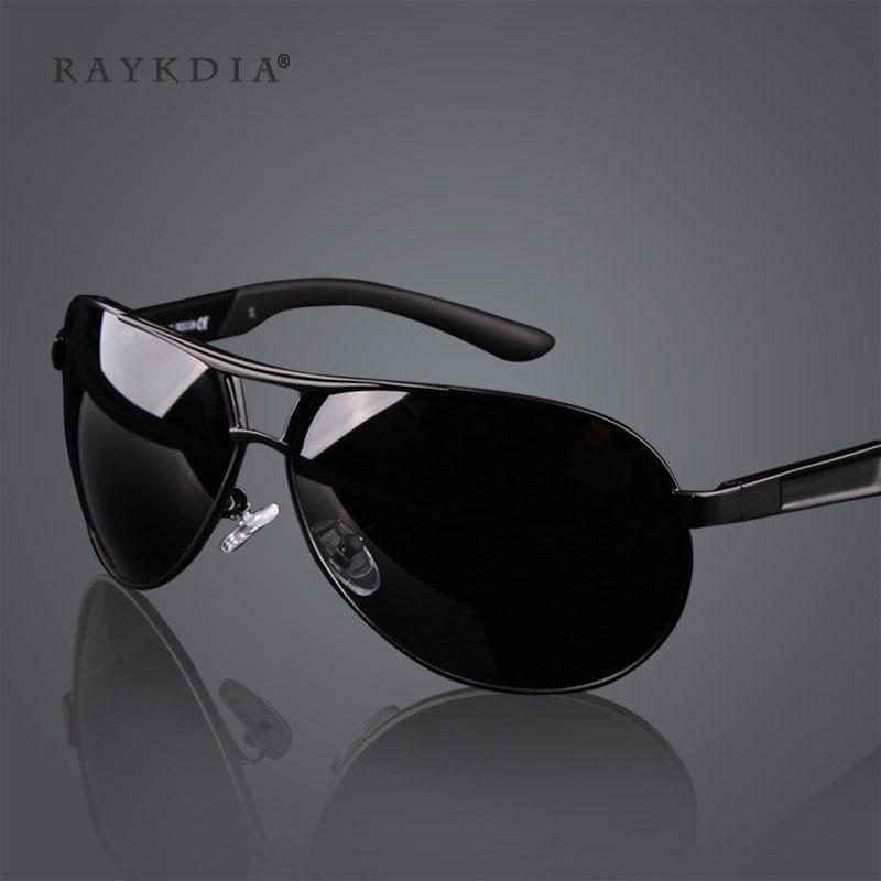 ... RAYKDIA Pilot Frame Men Fashion Kacamata Merek Desainer Retro Vintage  Polarized Sunglasses UV400 8005 Black grey ed9a31c6e1