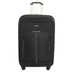 Toko Jual Real Polo Tas Koper Softcase Expandable 4 Roda 582 24 Inchi Hitam Gratis Pengiriman Jabodetabek