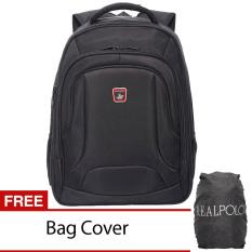 Diskon Real Polo Ransel Laptop 5873 Expandable Hitam Bag Cover
