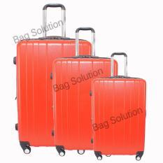 Ulasan Real Polo Tas Koper Hardcase Fiber Abs 4 Roda Putar 7716 Size 20 24 28 Merah