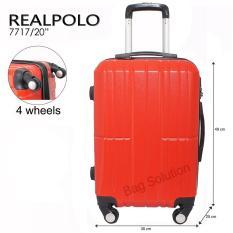 Beli Real Polo Tas Koper Hardcase Fiber Abs 4 Roda Putar Ggag Size 20 Inch Merah Online Murah