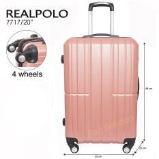 Spesifikasi Real Polo Tas Koper Hardcase Fiber Abs 4 Roda Putar Ggag Size 20 Inch Rose Gold Online