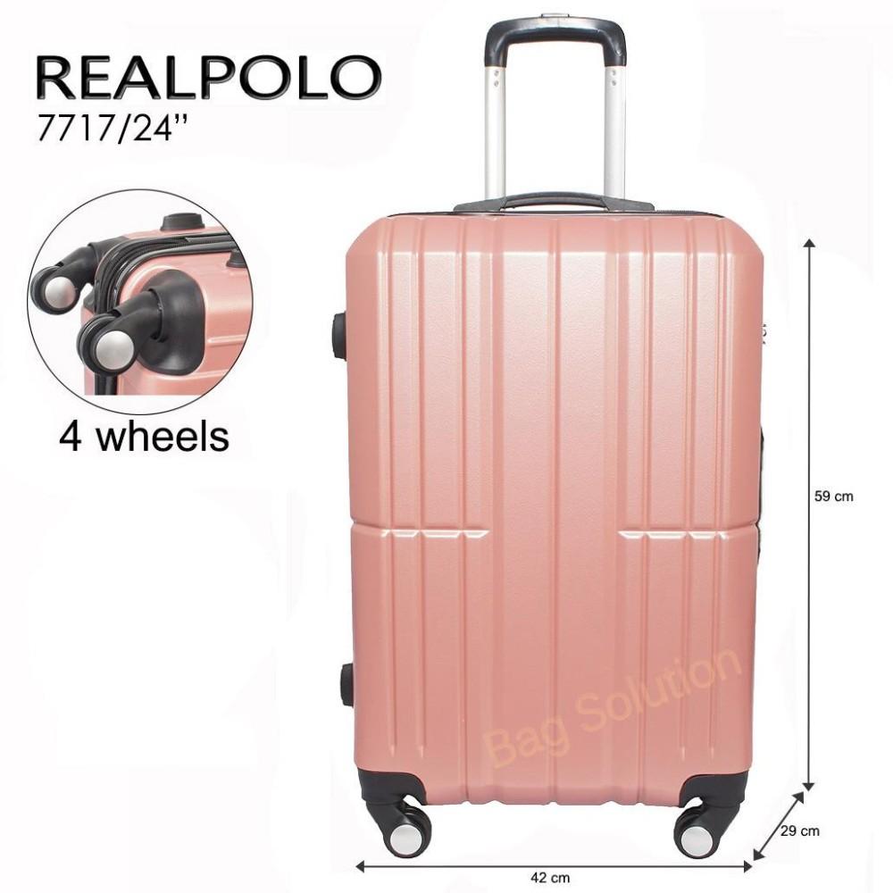 ... Expley Hardcase Luggage 20 Inchi 2018-20 Black Waterproof Real Polo Tas Koper Hardcase Fiber ABS - 4 Roda Putar - GGAG Size 24 Inch
