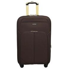 Ulasan Tentang Real Polo Tas Koper Kabin Softcase Expandable 4 Roda Putar 588 20 Inchi Coffee