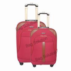 Real Polo Tas Koper Softcase Expandable 4 Roda 597- 20+24 Inchi - Merah