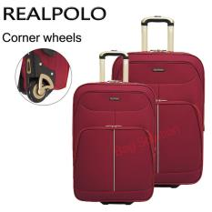 Real Polo Tas Koper Softcase Set Expandable 2 Roda 569 20+24 Inchi - Merah