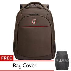 Beli Real Polo Tas Pria Tas Wanita Backpack Tas Ransel 5877 Coffee Free Bag Cover Yang Bagus