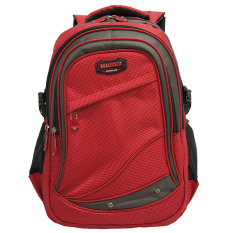 Obral Real Polo Tas Ransel Kasual 6278 Backpack Daypack Merah Murah