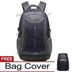 Real Polo Tas Ransel Kasual Jumbo FCCB Backpack XL Bonus Bag Cover - Biru Tua GJK