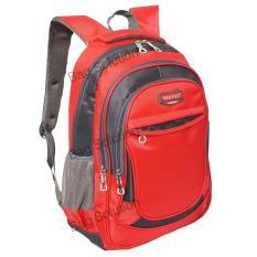 Real Polo Tas Ransel Kasual Tas Pria Tas Wanita 6373 Backpack Daypack Merah Real Polo Diskon 30