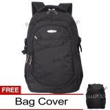 Beli Real Polo Tas Ransel Laptop Kasual 6362 Backpack Up To 15 Inch Bonus Bag Cover Hitam Real Polo