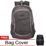 Beli Real Polo Tas Ransel Laptop Kasual 6365 Backpack Up To 15 Inch Bonus Bag Cover Abu Real Polo