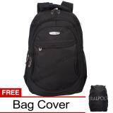 Jual Real Polo Tas Ransel Laptop Kasual 6366 Backpack Up To 15 Inch Bonus Bag Cover Hitam Di Indonesia