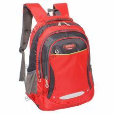 Real Polo Tas Ransel Kasual Tas Pria Tas Wanita 6372 Backpack Daypack Merah Real Polo Diskon 40