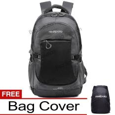 Toko Real Polo Tas Ransel Kasual Jumbo 6331 Backpack Xl Bonus Bag Cover Hitam Real Polo Di Dki Jakarta