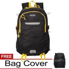 Beli Real Polo Tas Ransel Laptop Kasual Tas Pria Tas Wanita 6359 Backpack Up To 15 Inch Bonus Bag Cover Hitam Terbaru