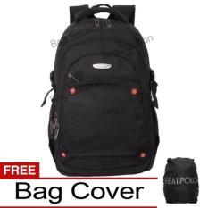Spesifikasi Real Polo Tas Ransel Laptop Kasual Tas Pria Tas Wanita 6360 Backpack Up To 15 Inch Bonus Bag Cover Hitam Bagus